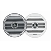 "Jensen MSX65R 6-½"" High Performance Coaxial Speaker - (Pair) White/Silver Grills"