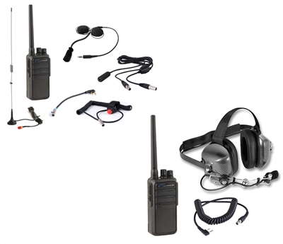 Rugged Race Radios: Driver+Crew 5-Watt Heavy Duty (RH16C-UHF) Mega Kit