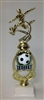 Assembled Soccer Trophy Male 12 inches with White Base
