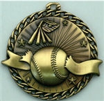 Baseball Medal Gold 2 inches