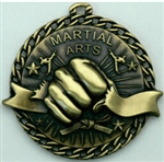 Martial Arts Medal Gold 2 inches