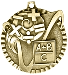 Math Medal Gold 2 inches
