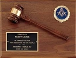 Walnut Plaque with gavel