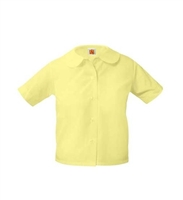 School Apparel Short Sleeve Blouse w/Rounded Collar