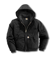 Carhartt Hooded Duck Jacket/Quilted Flannel Lined