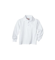 Dickies Long Sleeve Adult Size Pique Polo Shirt