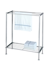 Chrome Metro Towel Rack with wire shelf