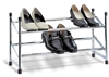 Expandable and stackable shoe rack