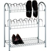 Shoe rack with shelf for storage