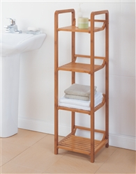 Lohas Bamboo 4 Tier Tower for bathroom and linens