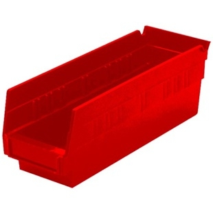 "6 Akro Shelf Bins - 23-5/8""L x 6-5/8""W x 4""H"