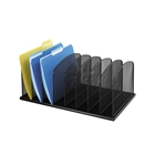 Black Mesh Organizer with 8 Upright Sections for File Folders