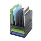 Mesh Desk Organizer w/ 3 Horizontal 5 Upright Sections