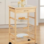 Kitchen Cart with 3 baskets for storage