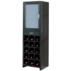 15 Bottle Wine Cabinet with mirror in black