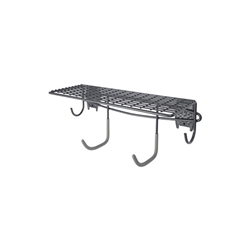 Shelf with Hooks - Granite