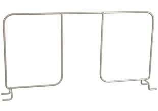 "16"" Ventilated Shelf Divider - Nickel"