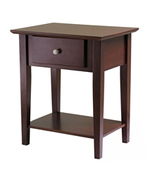 Shaker Night Stand is a classic style in dark walnut wood