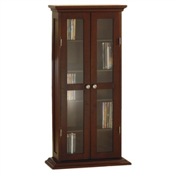 Book and DVD cabinet with five shelves