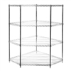 "SI 18"" Chrome Wire Shelving Pentagon Corner Unit with"