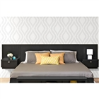 Designer Floating King Headboard with Nightstands