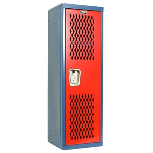 Blue and Red Home Team Locker