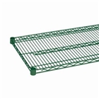 "14"",18"" and 24"" Green epoxy coated chrome wire shelf"