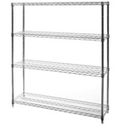 "14""d x 48""w Wire Shelving Unit with 4 Shelves"