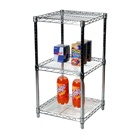 "18""d Chrome Wire Shelving Unit with 3 Shelves"