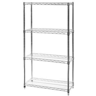 "12""d x 30""w Wire Shelving Unit with 4 Shelves"