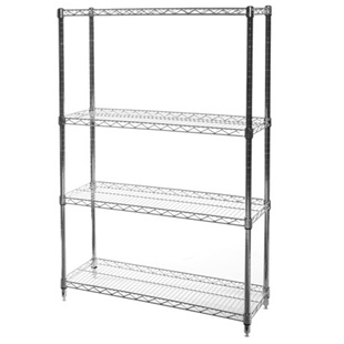"12""d x 36""w Wire Shelving Unit with 4 Shelves"
