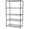 "24""d x 42""w Wire Shelving Unit with 5 Shelves"