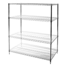 "24""d x 48""w Wire shelving racks with four levels"