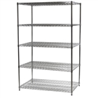 "30""d x 48""w Wire Shelving Unit with 5 Shelves"