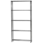 "8""d x 36""w Wire Shelving Unit with 5 Shelves"