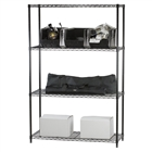 Black wire shelving racks