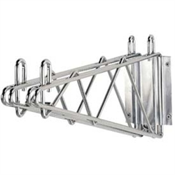 Chrome Wall Mounting Double Wire Shelf Brackets with Plate