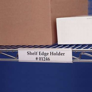 Label Holders for Wire Shelving