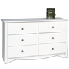White Monterey Children's 6 Drawer Dresser