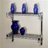 "8""d 2 Shelf Chrome Wire Wall Mounted shelving Kit from The Shelving Store"