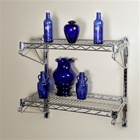 "14""d Adjustable Wire Shelving Wall Mount Kit with two shelves"
