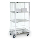 "18""d x 74""h Clear Wire Shelving Cover"