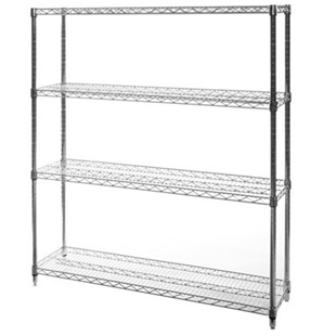 "14""d x 60""w Wire Shelving Unit with 4 Shelves"