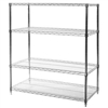 "18""d x 48""w Chrome Wire Shelving Unit with Four Shelves"