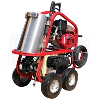 Hot2Go SH Series Professional 4000 PSI (Gas - Hot Water) Pressure Washer w/ Electric Start Honda Engine & Steam)
