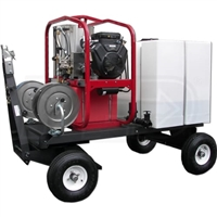 Hot2Go Tow-N-Stow Professional 4000 PSI (Gas - Hot Water) Pressure Washer Cart w/ Steam & Honda Engine