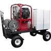 Hot2Go Tow-N-Stow Professional 4000 PSI (Gas - Hot Water) Pressure Washer Cart w/ Steam