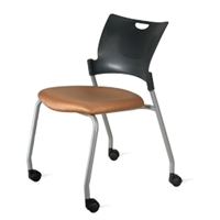 9to5 Seating - Bella Four Leg Multipurpose Chair with Casters - 1315