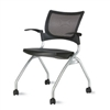 9to5 Seating - Bella Mesh/Mesh Back Nesting Chair with Casters - 1370