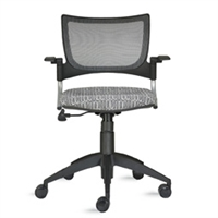 9to5 Seating - Bella Mesh/Mesh Back Tasking Office Chair - 1375